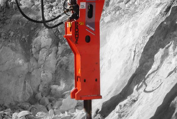 martello demolitore idraulico per tunnel